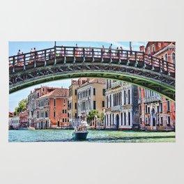 Ponte dell' Accademia Bridge In Venice, Italy Rug