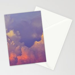 Purple Pastel Clouds Fluffy Cotton Candy Whimsical Fairytale Sky Stationery Cards