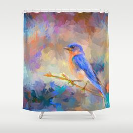 Bring On The Bluebirds Shower Curtain