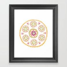 Suzani inspired floral 4 Framed Art Print