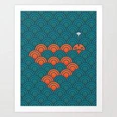 The Last Sea Monster Art Print