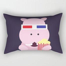 Hippo - 3d Rectangular Pillow