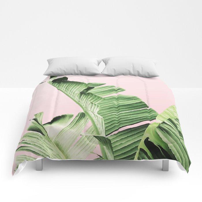 Banana Leaf on pink Comforters
