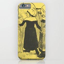 Paul Gauguin - Pleasures of Brittany (Joies de Bretagne) (1889) iPhone Case