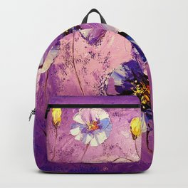 Flowers in the moonlight Backpack