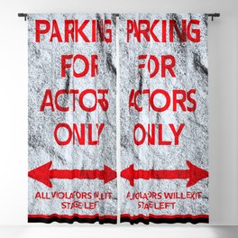 Actor Parking sign theater stage Blackout Curtain