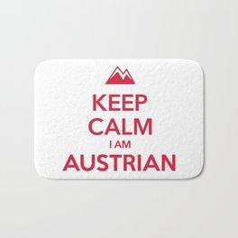 KEEP CALM I AM AUSTRIAN Bath Mat