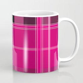 Shades of Pink and Black Plaid Coffee Mug