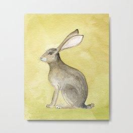 Goldenrod Hare Metal Print