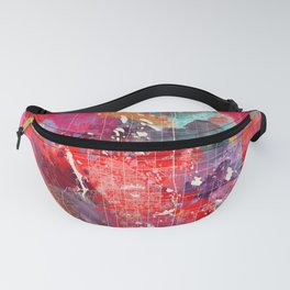 Fort Collins map Colorado painting 2 Fanny Pack
