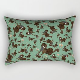 Shy european mink pattern Rectangular Pillow