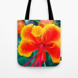 Peacock flower 3 Tote Bag