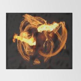 Fire Dancer Throw Blanket