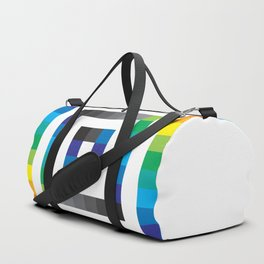 Rainbow Squares Pattern Duffle Bag