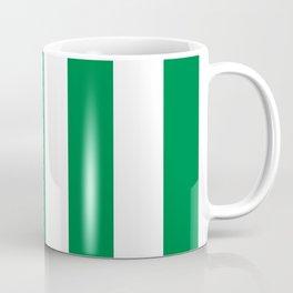 Classic Cabana Stripes in White + Kelly Green Coffee Mug