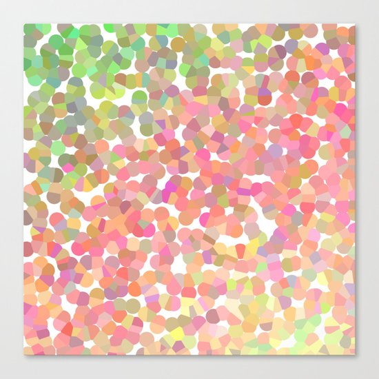 Confetti Colors Canvas Print