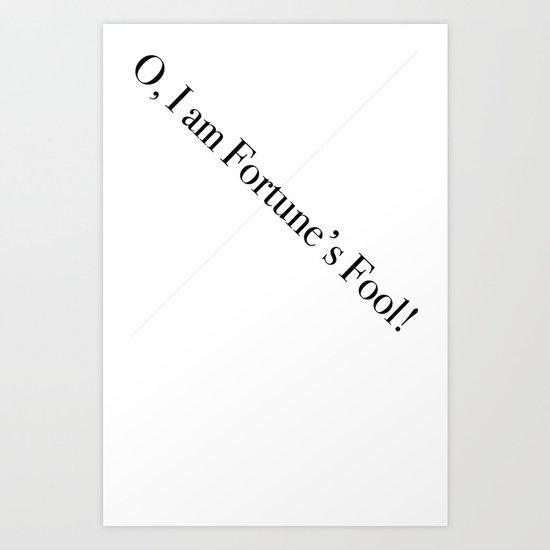 Fortune's Fool Art Print