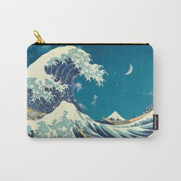 Great Wave Off Kanagawa and Starry Sky Carry-All Pouch