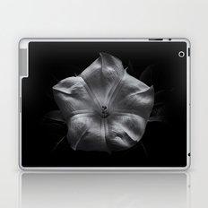 Backyard Flowers In Black And White 24 Laptop & iPad Skin