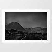 scotland Art Prints featuring Scotland by itsthezoe