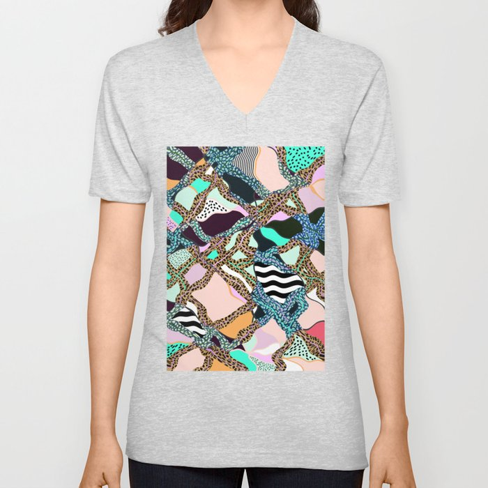 ELECTRIC VIBES Unisex V-Neck