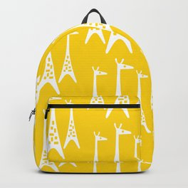 Mid Century Modern Giraffe Pattern 221 Yellow Backpack
