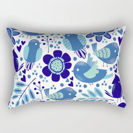 Nature with birds V2 Rectangular Pillow