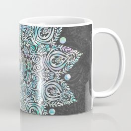 Mermaid Mandala on Deep Gray Coffee Mug