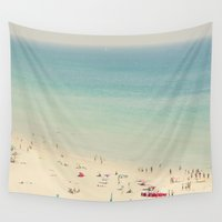 beach Wall Tapestries featuring beach by Ingrid Beddoes