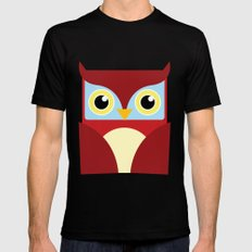The Red Owl. Mens Fitted Tee Black MEDIUM