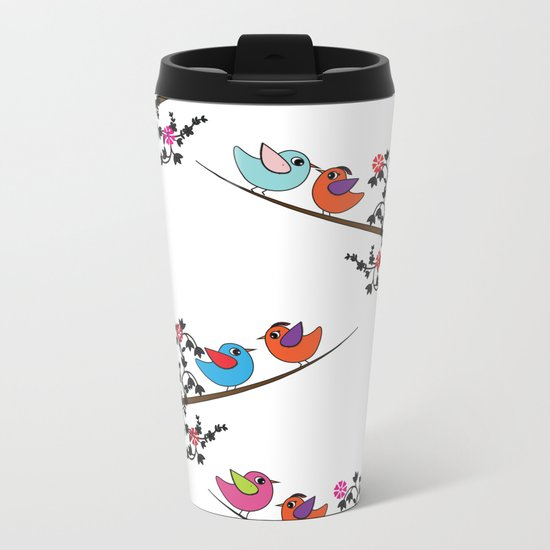 birds Metal Travel Mug