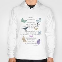 poem Hoodies featuring Dream Poem by Zen and Chic