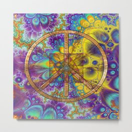 Hippy 1 Psychedelic Metal Print