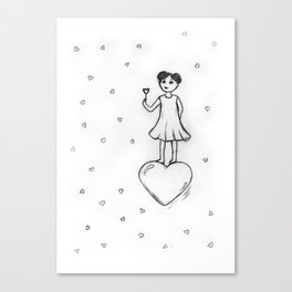 Love, Bubbles Canvas Print
