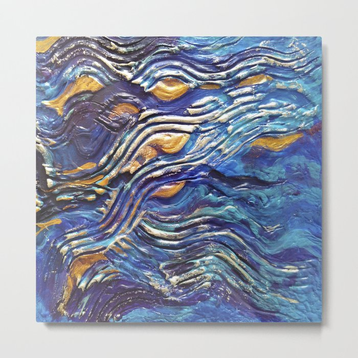 Abstract nautical background Metal Print