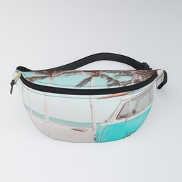 Retro Camper Van With Surf Board Fanny Pack