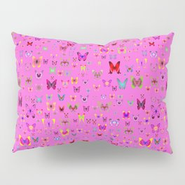 Numerous colorful butterflies on a neutral background Pillow Sham