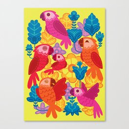 Parakeet´s Club Canvas Print