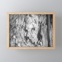 Grayscale Pour 814 Framed Mini Art Print
