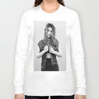 sky ferreira Long Sleeve T-shirts featuring You're Not The One ~ Sky Ferreira by Michelle Rosario