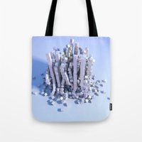 physics Tote Bags featuring Cube physics  by Adoryanti