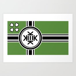 Kekistan flag for kekistani citizens facing normie opression Art Print