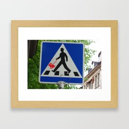 Taking Bunny for a Walk Framed Art Print
