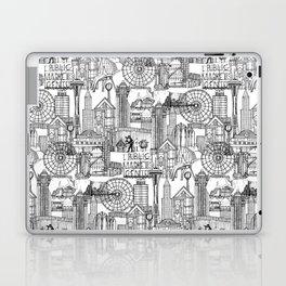 Seattle black white Laptop & iPad Skin
