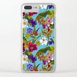 Tropical Bohemian Clear iPhone Case