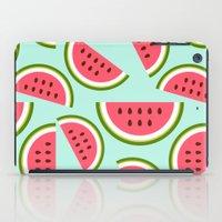 watermelon iPad Cases featuring Watermelon by Cute Cute Cute