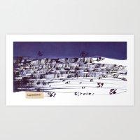 the strokes Art Prints featuring strokes... by matzenbacher