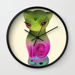 kitten-candy Wall Clock