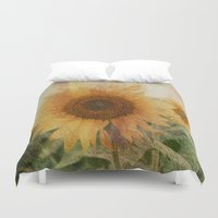sunflower Duvet Covers featuring sunflower by VanessaGF