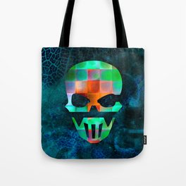 CHECKED DESIGN II - SKULL Tote Bag